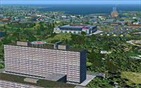 Denmark Cities depicted in FSX.