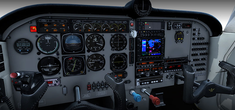 M20 cockpit and panel.