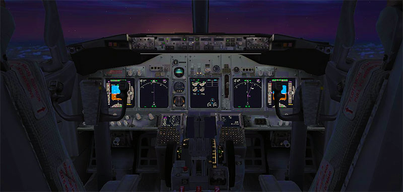 Full 3D virtual cockpit in FSX.