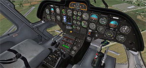 Screenshot showing the virtual cockpit