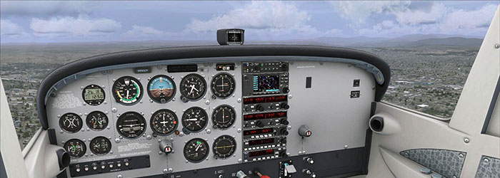 Screenshot showing the full cockpit