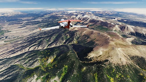 Scenery displayed using the Colorado photoreal in P3Dv5.