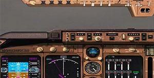 2D aircraft panel