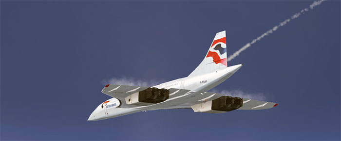 Concorde in high altitude flight