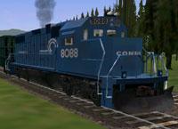 Blue Conrail loco