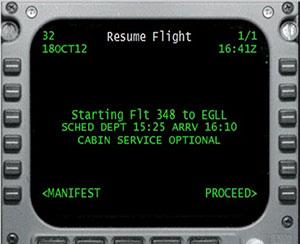 In-flight controller