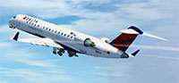 Screenshot of Delta Airlines CRJ-700 in flight.