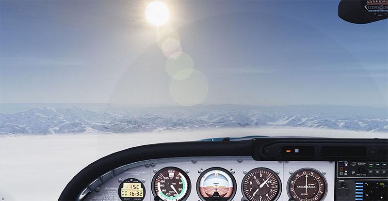 Cruising in the West USA in Prepar3D v5.