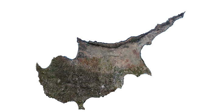 Cyprus photoreal coverage map.