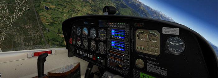 The DA40 cockpit