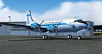 DC-4 on ramp in FSX.