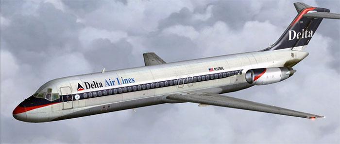 Delta Air Lines MD-80
