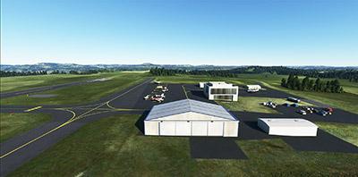 Showing Hulett (W43) airport in MSFS2020.