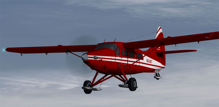 DHC3 Otter in red livery