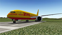 DHL 787 in X-Plane 10
