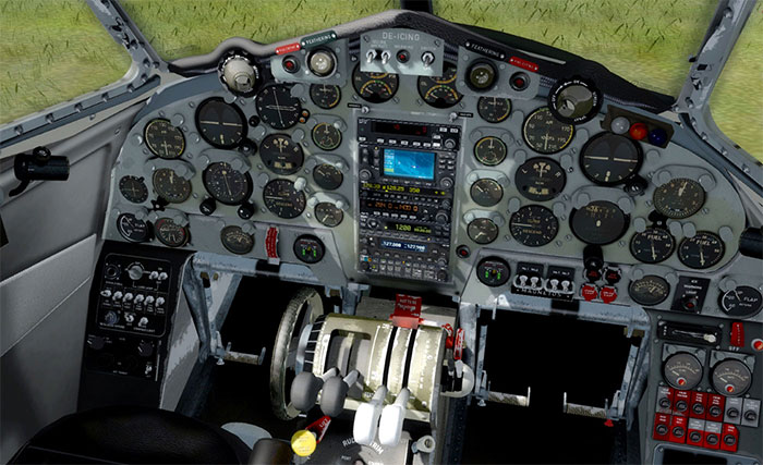 The Dove's stunning 3D virtual cockpit.