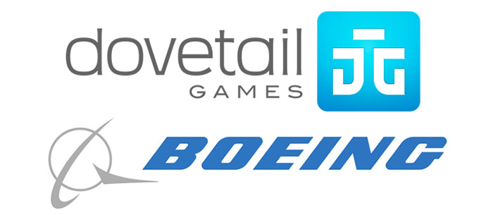 Dovetail Games and Boeing logos