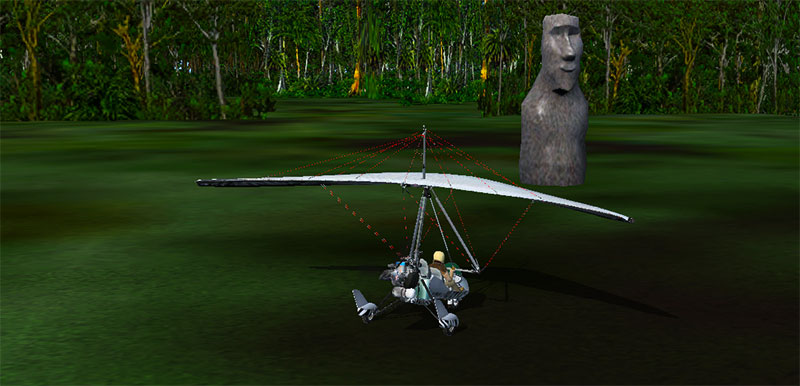 Easter Island Stones in FSX.