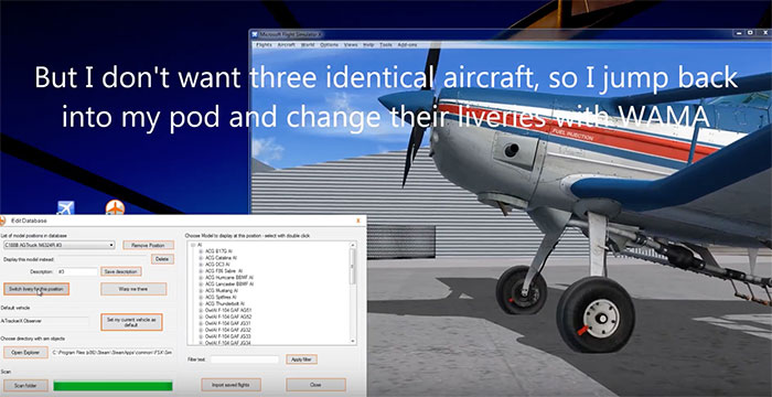 Edit aircraft database.