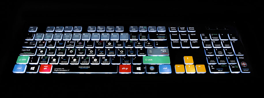 Backlit FSX Keyboard by Editors Keys Released (And Where to Buy)