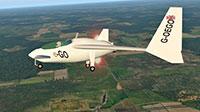 e-Go ultralight in flight.