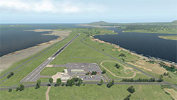 Donegal Airport from above in XP11.