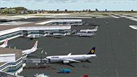 Barcelona El Prat Airport Scenery example.