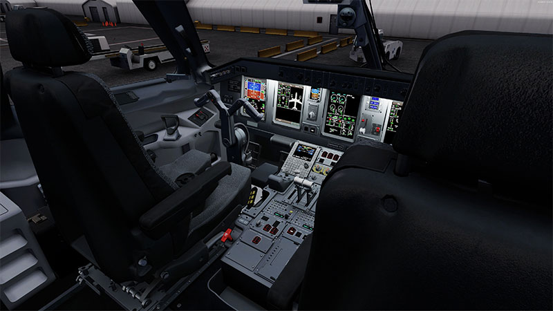 Cockpit of the EMB175 in P3D.