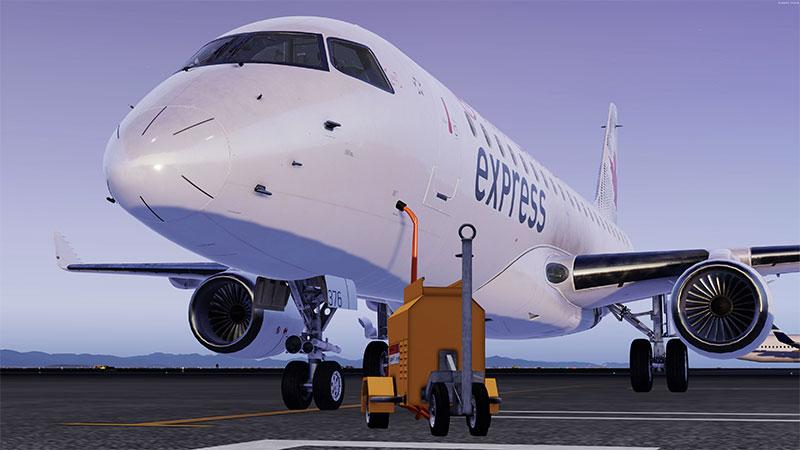 EMB 195 on ground in Prepar3D v5.