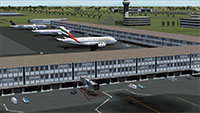 Suvarnabhumi International Airport with Emirates A380 at gate.