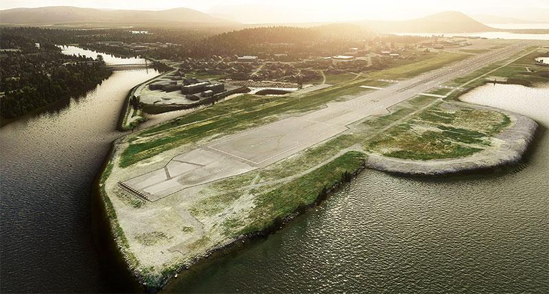 ENAT (Alta Airport) runway and surroundings.