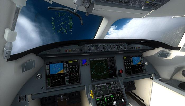 Falcon's 3D virtual cockpit