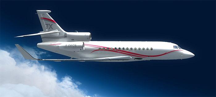 Falcon 7X by Wilco in flight