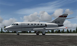 Falcon 20 in P3Dv4.