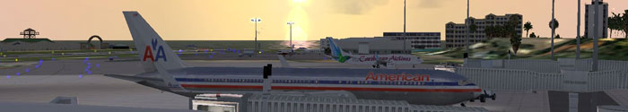 Princess Juliana airport scenery