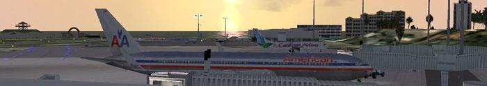 Princess Juliana airport scenery