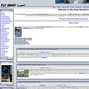 Fly Away Simulation in 2003.