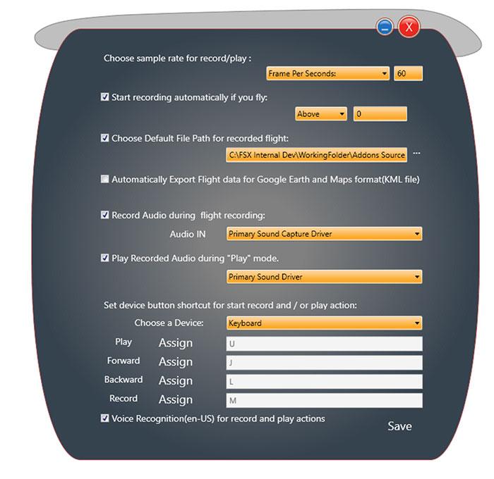FCR Dialog box