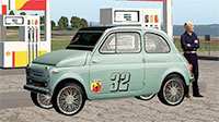 Fiat 500 Abarth at petrol station.