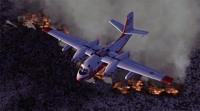 Firefighting in FSX.
