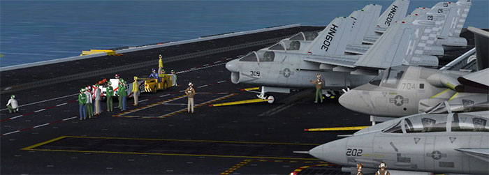 Flight deck of the simulated version