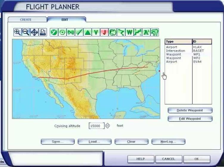Using the FSX Flight Planner