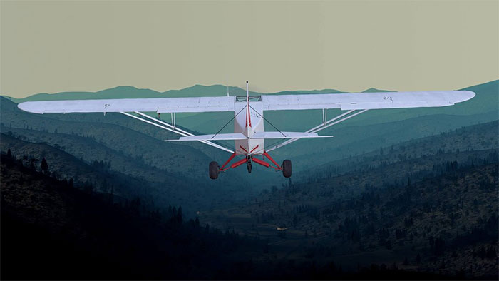PA-18 Super Cub in Flight School