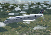 Screenshot of flybe Bombardier CRJ-200 in flight.