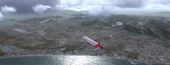 Flying over Ibiza