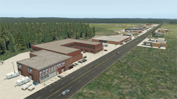 Forestville airport in X-Plane 11.