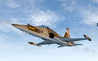Canadair Freedom Fighter mid flight.