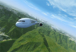 Example of using this freeware global mesh scenery in P3Dv4.