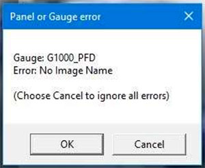 Error message shown