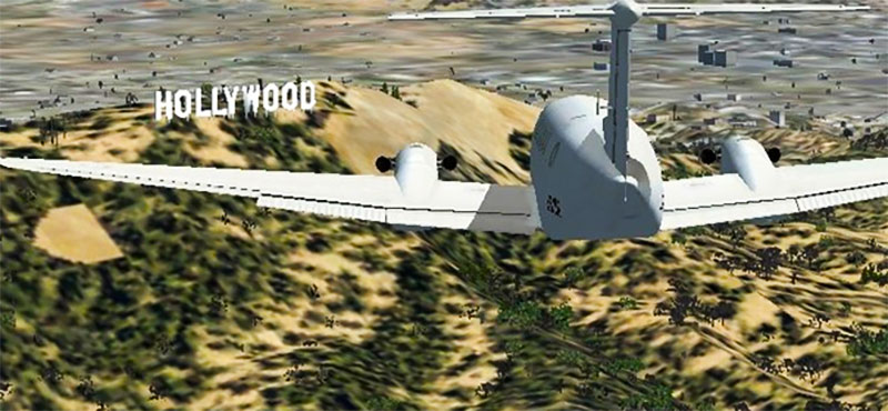 Hollywood sign in FSX.